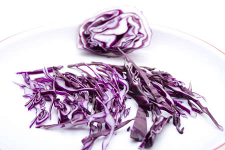 Fresh Red Cabbage on Plate