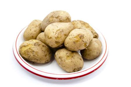 potatos: Cooked Potatos on Plate