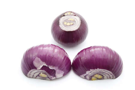 red onion: Red Onion on White Background