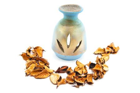 potpourri: Lamp of Perfume with Potpourri  Stock Photo