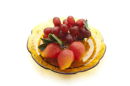 glas: Plastic Fruits  on Glas Plate