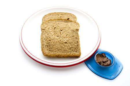 spreaded: Brown bread with Spreaded Chocolate