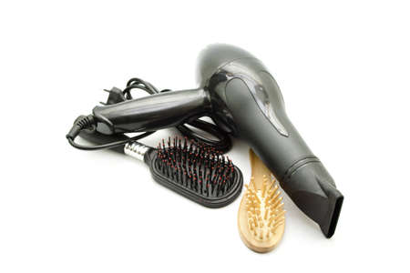Hairdryer with Different Hairbrush  Stock Photo - 19806957