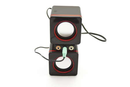 adapter: Black Loudspeakers with Adapter