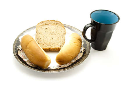coffeecup: Coffeecup with baked Bread Plate