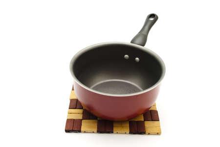 underlay: Red Pot with Underlay on white background