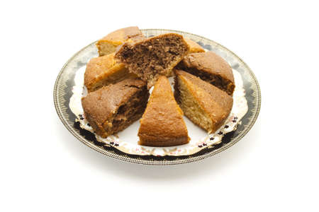 coffeetime: Fresh Baked Marble Cake on Plate