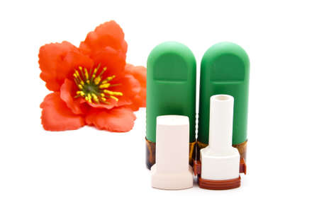 Nasal Spray with Asthma Inhaler  photo