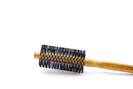 Wooden Comb on white background  Stock Photo