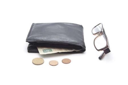 change purse: Black Money Purse with Money