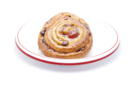 coffeetime: Fresh Baked Pastry on Plate  Stock Photo