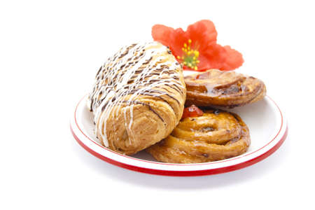 coffeetime: Fresh Baked Pastries on Plate