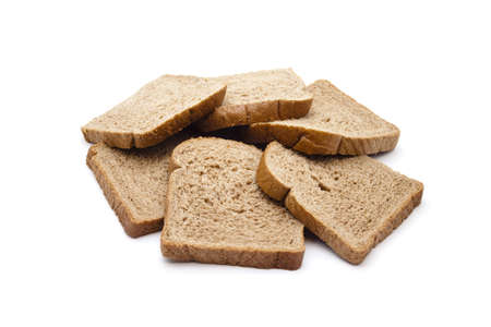 Fresh Baked Brown Toast on white background