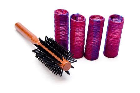 curler: Hair Curler with hairbrush