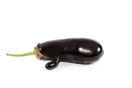 egg plant: Fresh Dark Egg Plant on white background