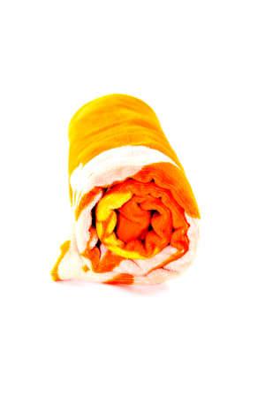 Orange Fleece Towel