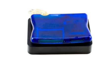 external hard disk drive: Blue Card Reader with External Hard Drive Disk