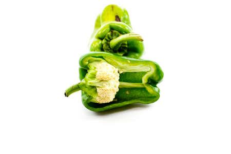 Fresh Green Capsicum  Stock Photo