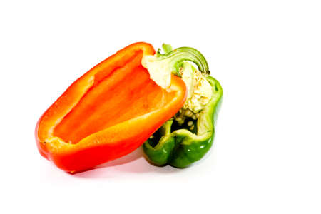 Fresh Green and Red Capsicum