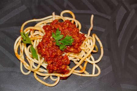 Fresh Cooked Spaghetti Bolognese