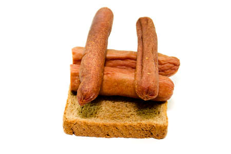 Fresh Rosted Sausages with Toast Bread
