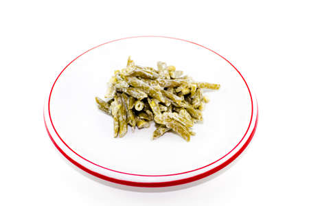 Fresh Green Beans Salad on Plate