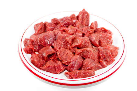 Fresh Sliced Beef Meat  Stock Photo