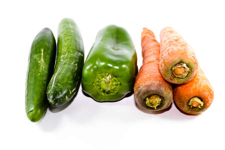 Different Vegetables on white background