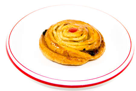 Fresh Baked Pastry on Plate  Stock Photo