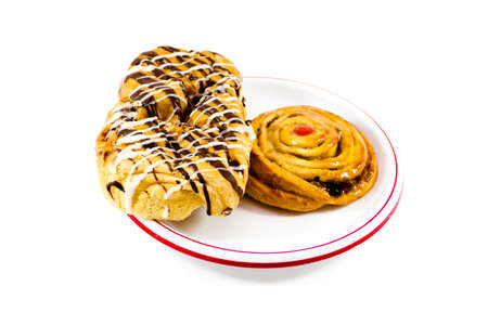 coffeetime: Fresh Baked Pastries  Stock Photo