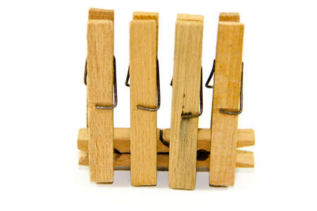 clothespins: Wooden Clothespins Stock Photo