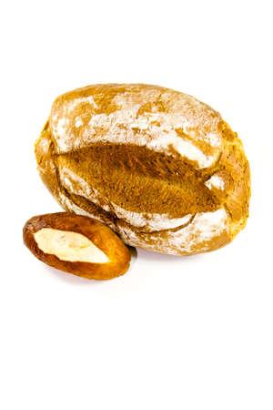 lye: Fresh Baked Brown Bread with Lye Bread Roll