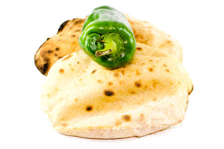 Fresh Baked Egyptian Flat Bread with Capsicum