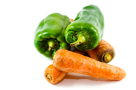 Fresh Green Capsicum with Carrots