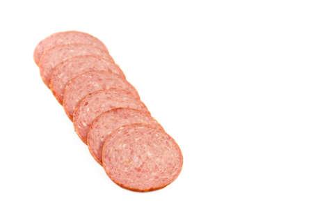 Fresh Beef Salami  Stock Photo