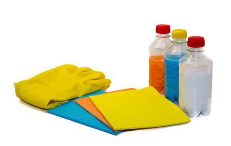 wipes for cleaning and wiping gloves and liquid Stock Photo