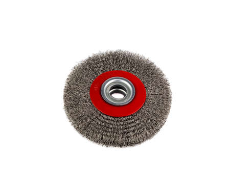 Circular brush metal Stock Photo