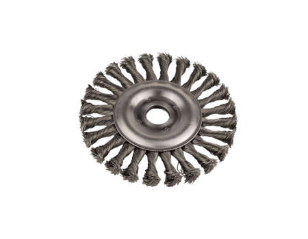 Circular brush metal Stock Photo