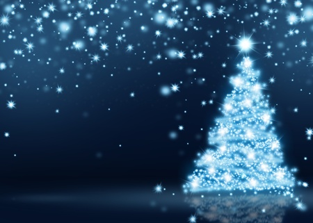 Blue Christmas Tree Background photo