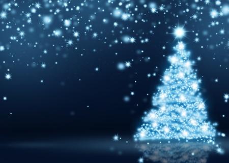 holiday celebrations: Blue Christmas Tree Background