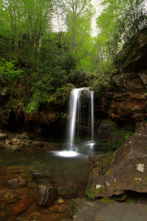 Long exposure of grotto falls in Tennessee photo