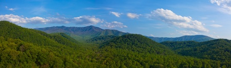 Smoky mountain panorama in tennessee