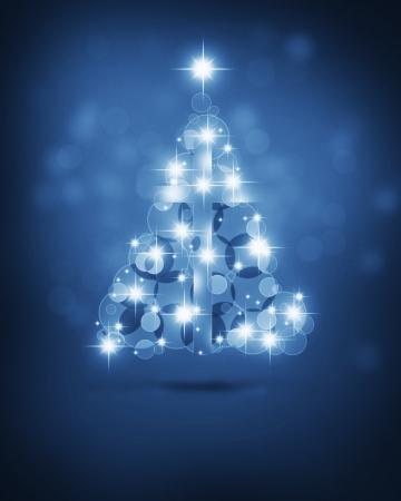 winter tree: Christmas tree with Christian cross
