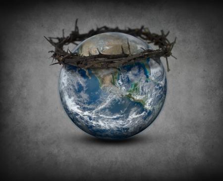 Dornenkrone auf der Erde