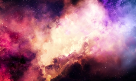 Colorful nebula in deep space Stock fotó