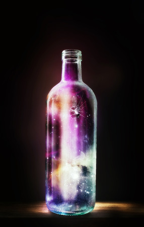 entire: An glass bottle that holds the entire universe.
