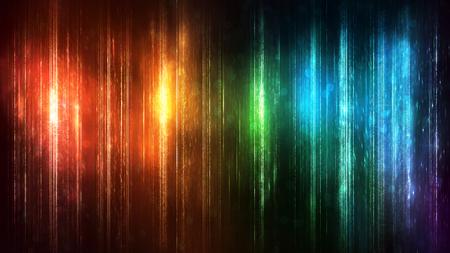 Kleurrijke achtergrond met gloeiende lichtbundels Stockfoto