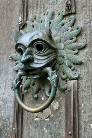 durham: Sanctuary knocker on the door of Durham Cathedral Stock Photo