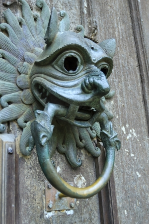 Sanctuary knocker on the door of Durham Cathedral Stock fotó