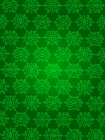 patterned wallpaper: Snow flakes patterned wallpaper Stock Photo